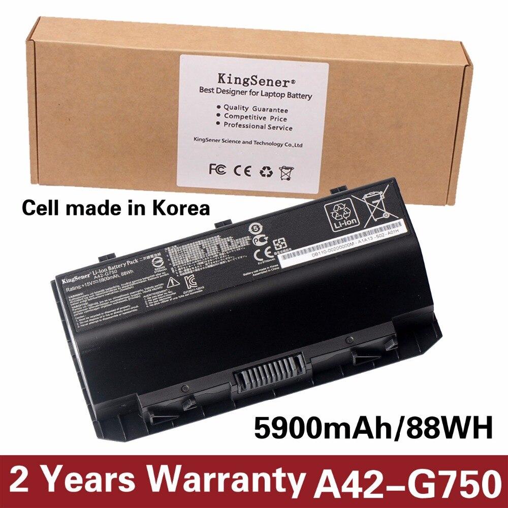 KingSener Corée Cellulaire A42-G750 Batterie D'ordinateur Portable pour ASUS ROG G750 Série G750J G750JH G750JM G750JS G750JW G750JX G750JZ 15 V 88WH