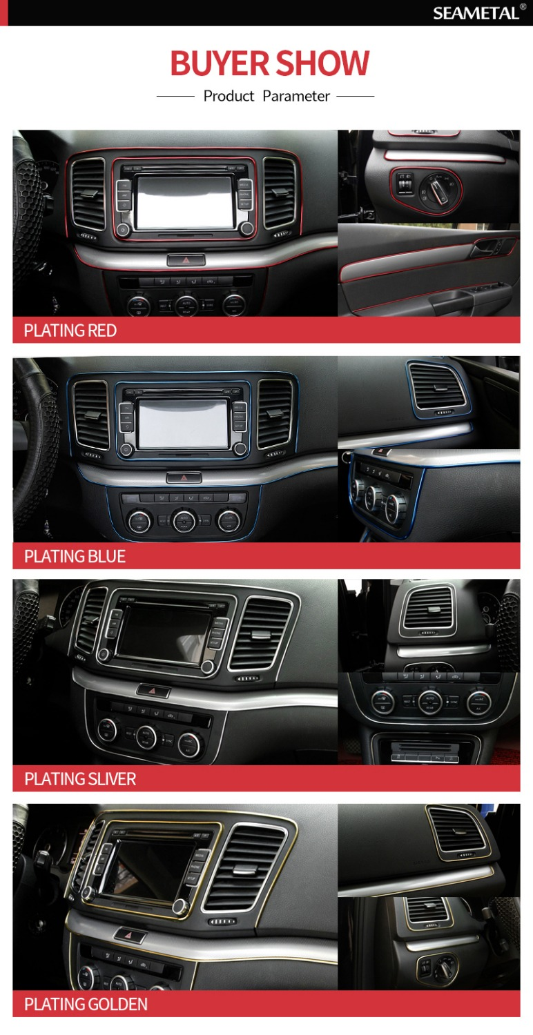 Image 5 - 5M/3M/1M Car Seal Accessories Styling Interior Exterior Decoration Door Strip Moulding Trim Dashboard Edge Universal Auto Chrome-in Interior Mouldings from Automobiles & Motorcycles