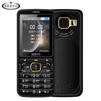"""SERVO S10 Telefoni cellulari e Smartphone 2.8 """"HD 3 SIM Card Grande Altoparlante luce viola 2500 mAh Accumulatori e caricabatterie di riserva del cellulare con lampada repellente per le zanzare"""