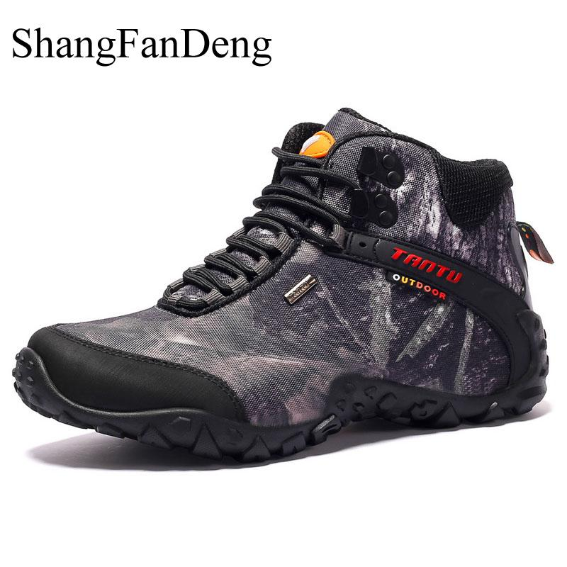 Outdoor Boots Men Waterproof High Quality Winter Men Shoes Trekking Sneakers Tactical Army Boots Non-Slip Camouflage Men Boots