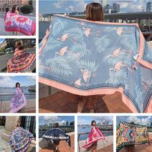Hot New 90x180cm Twill cotton Pareo 2018 Summer Cover-Ups Rectangle Wrap Scarf Swimsuit Bikini Cover Up Autumn Beach Sarong Mats