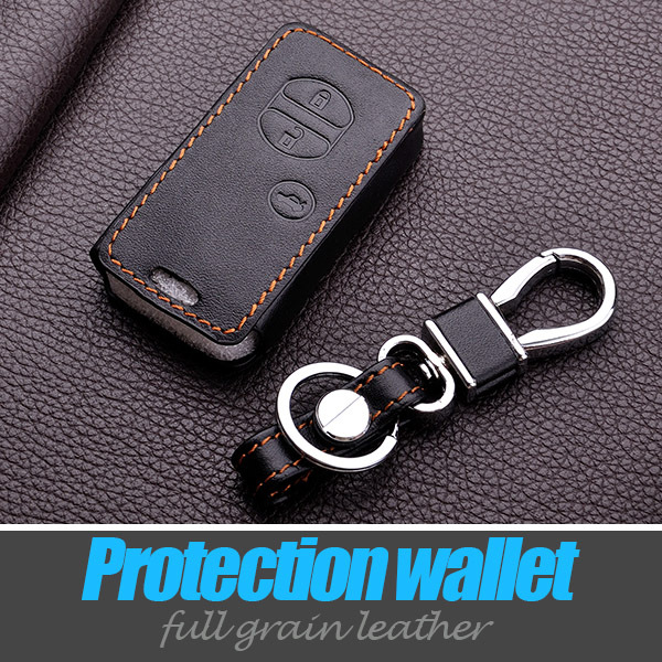 Genuine leather car <font><b>Key</b></font> Chain keyring <font><b>Case</b></font> Cover shell cover for <font><b>toyota</b></font> camry 2012 <font><b>rav4</b></font> 2013 <font><b>2014</b></font> avensis image