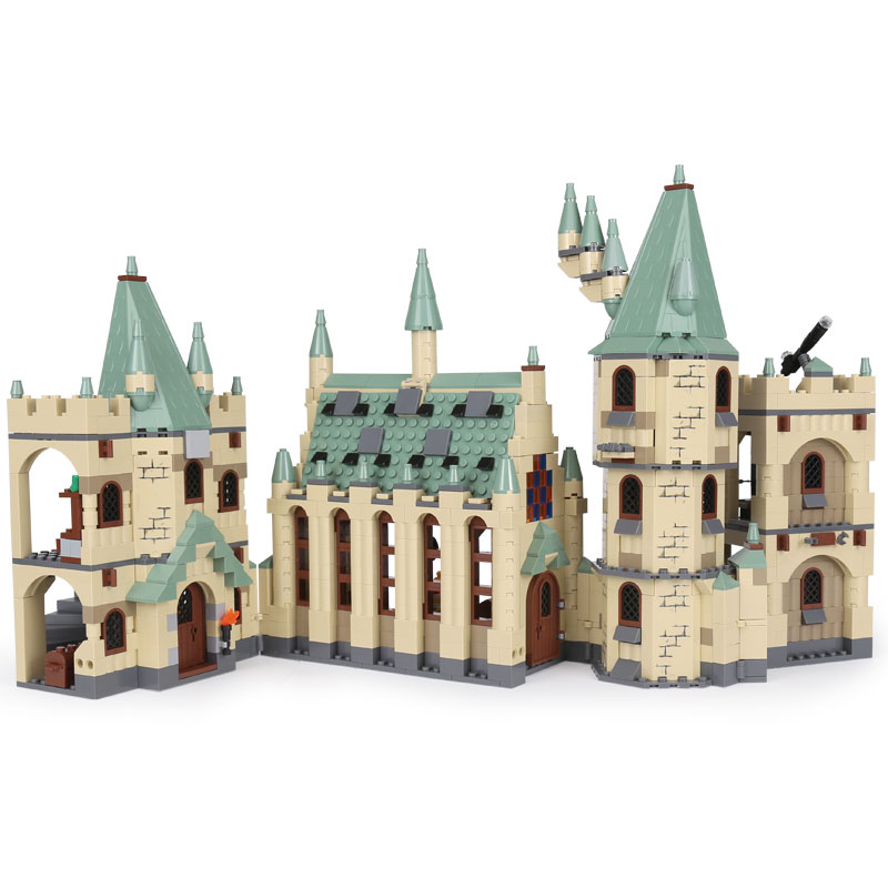 Lepin 16030 Movie Series The Hogwart Castle Set 1340pcs Building Blocks Bricks Compatible 4842 Educational Toys Model As Gift lepin 16030 1340pcs movie series hogwarts city model building blocks bricks toys for children pirate caribbean gift