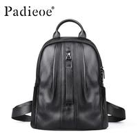 Padieoe Luxury Brand Women Shoulder Bags Genuine Leather Backpack Female Korean School Bags Women Travle Backpack Japan Mochila