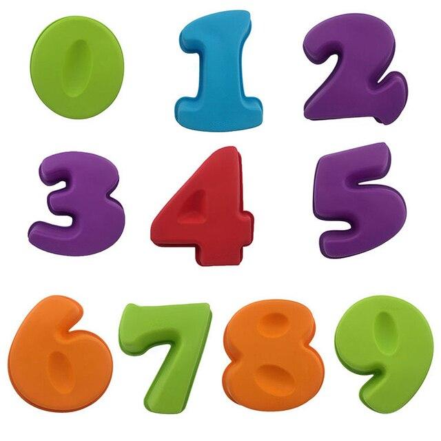Forma De Silicone Número 0 1 2 3 4 5 6 7 8 9 Molde Do