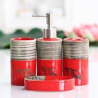 4 Piece Set Bathroom Sets Soap Dishes Shampoo Bottle Toothbrush Holders Box Storage Organizer Bath Accessories