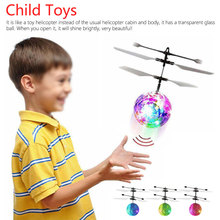 Aircraft Fly Ball Toys Hand Induction RC Flying Lighting Crystal Sensing Toy without/with remote control