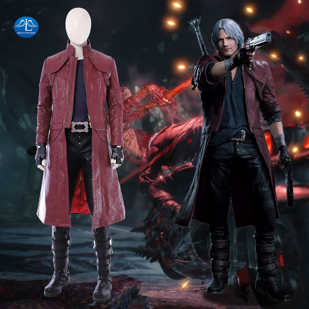 Devil May Cry 5: New Game DMC Devil May Cry 5 Costume Dante Cosplay Costume