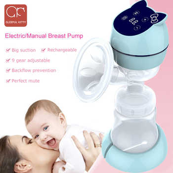 All-in-one USB Electric Breast Pump Powerful Suction LED Display cartoon Portable manual Breast Pumps with Rechargeable Battery - DISCOUNT ITEM  20% OFF All Category