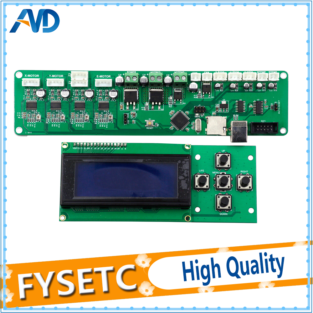 2004LCD+Melzi 2.0 1284P 3D Print PCB Board IC ATMEGA1284P Accessories For Tronxy 3D Printer Control Board DIY Kit Part melzi 1284p