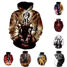 Japanese anime Comic NARUTO Hoodies Zipper Clothing hooded sweatshirt Unisex Adult hoodie Coat Jacket plus size