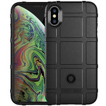 For Shell iPhone Xs Max Xr X Soft TPU Bumper Armor Shockproof Case for coque iphone xs xr max Airbag Back Cover Rugged Shield