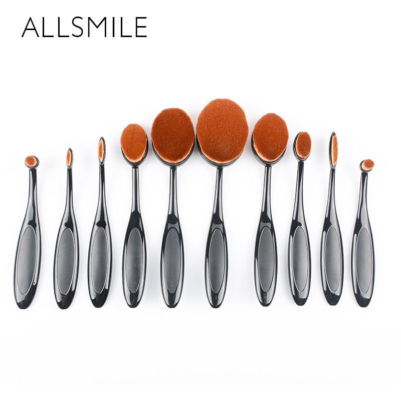 ALLSMILE Pro Face Beauty Makeup Brush Pincel Maquiagem Foundation BB Cream Flawless Base Powder Puff Blusher Cosmetic Brushes 1pcs makeup brushes foundation flawless powder puff blusher cosmetic cleaning tools for makeup brush maquiagem soft brushes