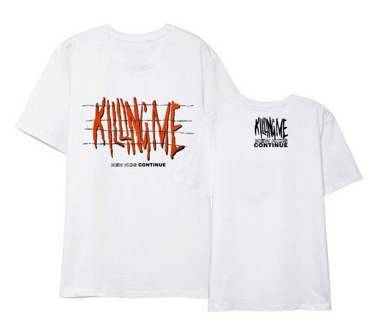 Kpop Ikon New Kids Continue Concert Same Killing Me Printing O Neck Short Sleeve T Shirt Fashion Unisex Summer Looe T-shirt