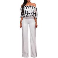 Jumpsuit Elegant Woman 2018 Fashion Sexy Womens Sleeveless Turtleneck Stripes High Waist Flared Jumpsuits Rompers Pant