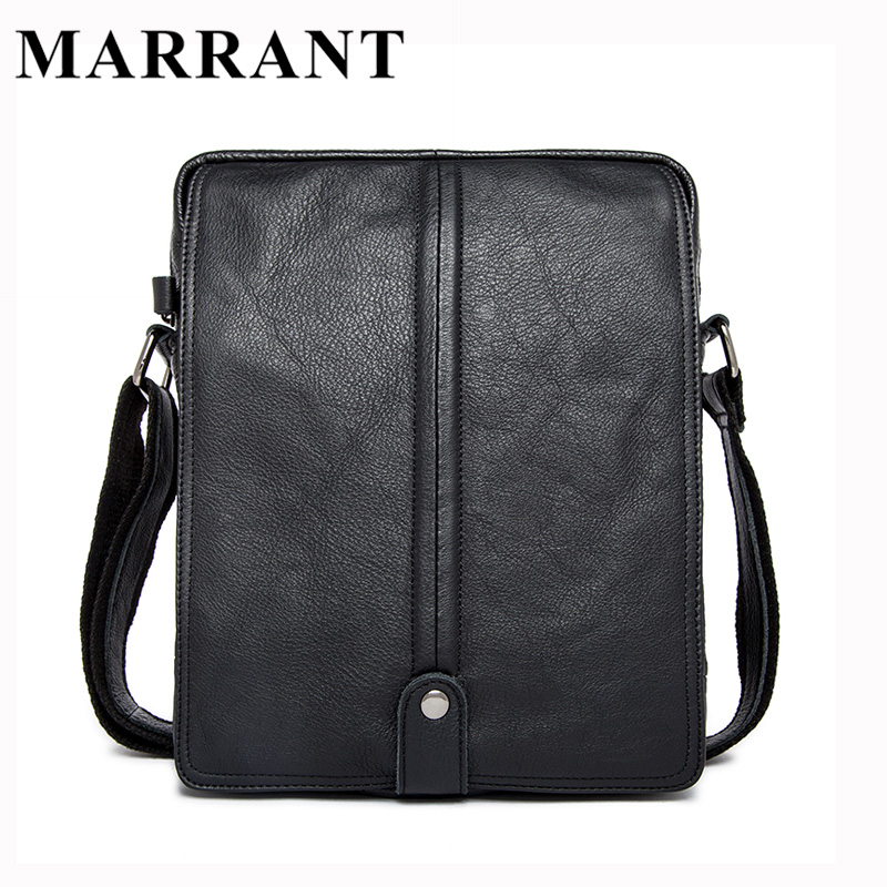 ФОТО MARRANT Genuine Leather Men Bags Man Small Messenger Bag Male Fashion Crossbody Shoulder Handbag Men's Travel New Bags 8830