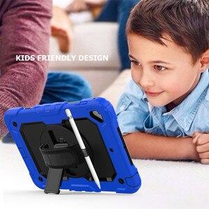 """Image 5 - Étui pour iPad mini 4 mini5 2019 7.9 """"couverture porte crayons pour iPad mini 5 A2133 enfants sûr antichoc armure couverture + main poignet + Film"""