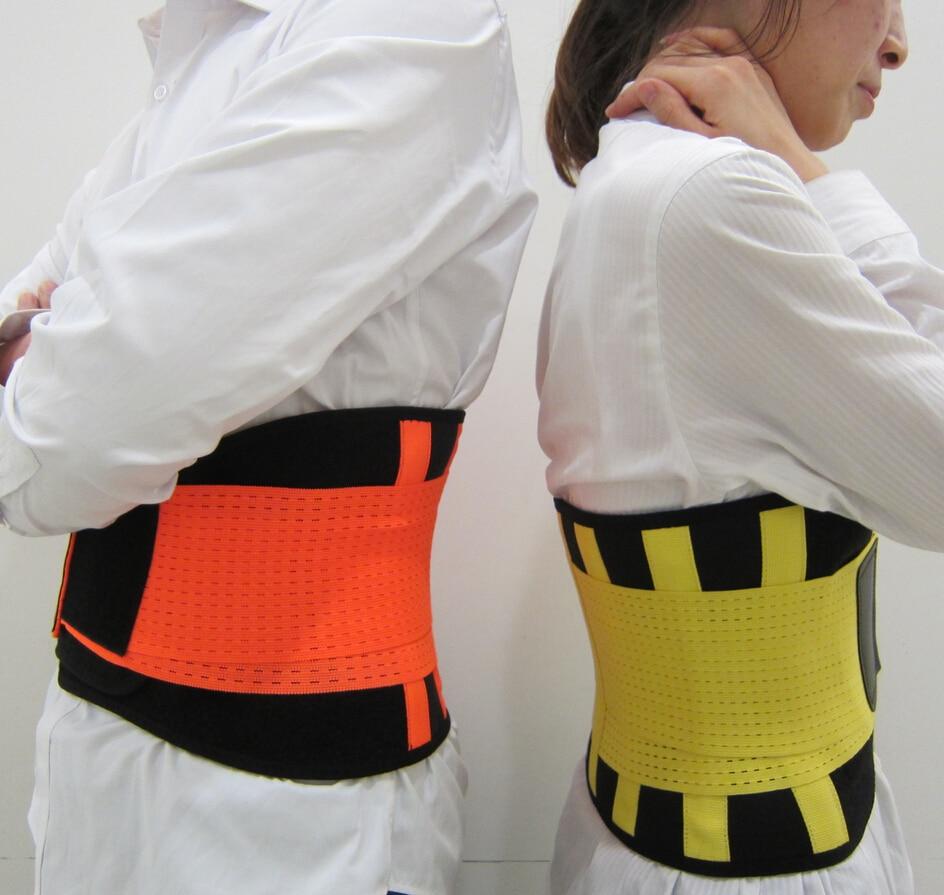 Prix pour Élastique En Nylon et Néoprène Ceinture Ajustable Taille Soutien Brace Fitness Gym Lombaire Retour Taille support arrière ceinture