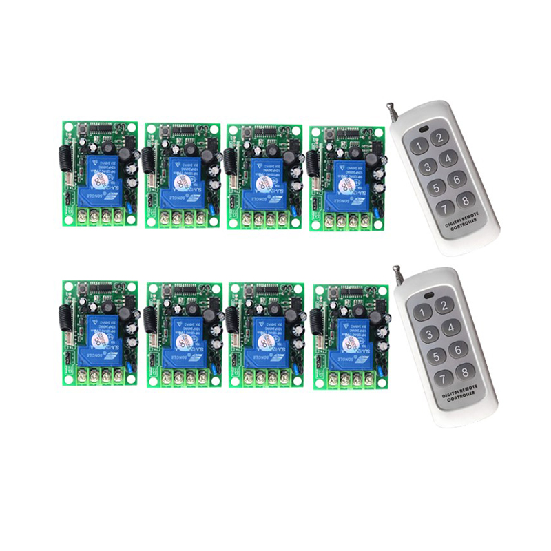 Wireless Remote Control Switch AC 220V 110V 85-265V 30A Relay Output Radio RF Transmitter And 315/433 MHz ReceiverWireless Remote Control Switch AC 220V 110V 85-265V 30A Relay Output Radio RF Transmitter And 315/433 MHz Receiver