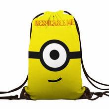 만화 귀여운 3D 인쇄 캔버스 Schoolbags 맞춤 만화 소녀 유니콘 패턴 애니메이션 여성 포케몬 Drawstring 가방 선물