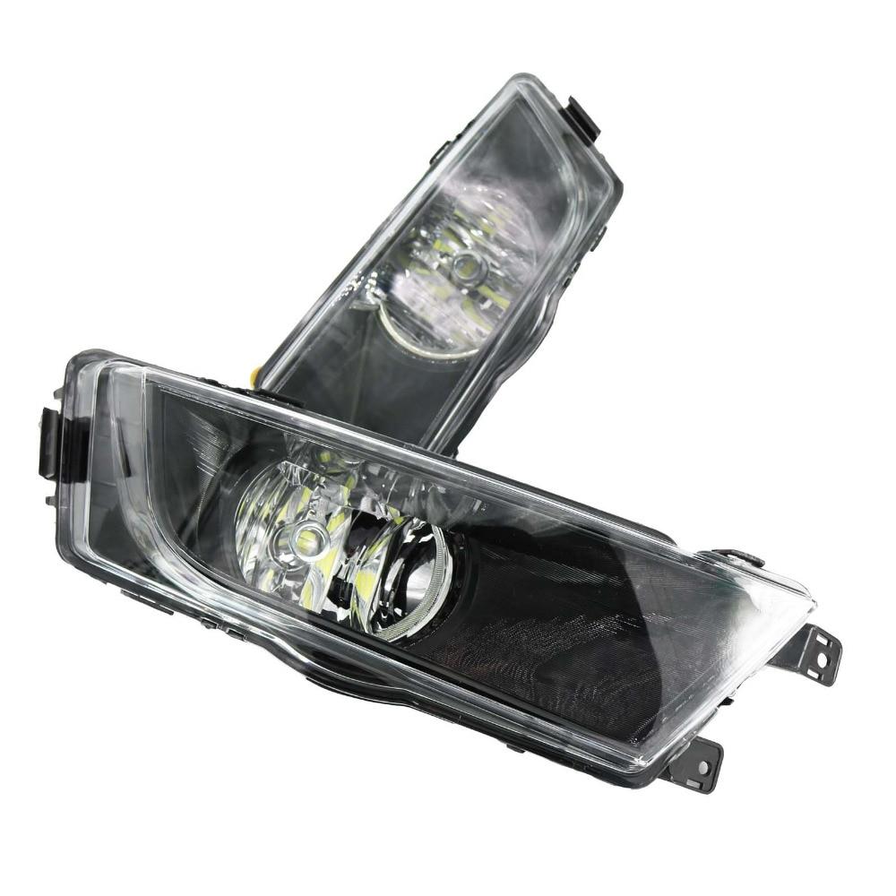 2Pcs Car Styling For Skoda Octavia A7 2013 2014 2015 2016 Front LED Fog Light Fog Lamp With Bulb for vw touran 2011 2012 2013 2014 2015 2016 car styling right side front fog light fog lamp with convex lens