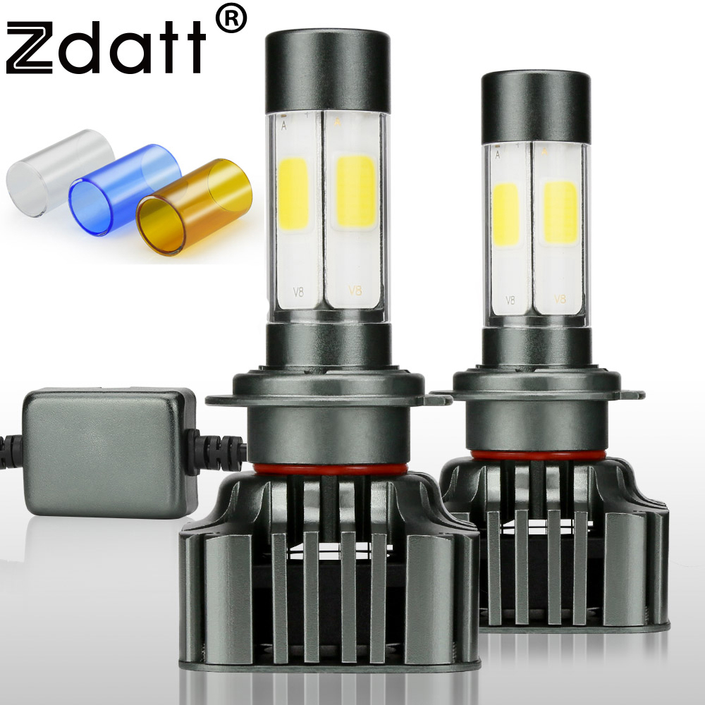 Zdatt H4 H7 H11 Led Bulb Canbus 9005 HB3 9006 H8 H9 100W 12000Lm Car Light Headlights Bulb 12V LED Lamp Auto 3000K 6000K 8000K zdatt 2pcs 12000lm car led headlights h4 h7 h8 h11 9005 hb3 canbus auto led bulb hi lo beam 100w pair 12v fog lamp automobiles