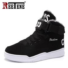 Reetene inverno quente botas de neve homens de alta qualidade botas de pele masculina moda veludo botas masculinas casuais sapatos de pelúcia tamanho 39 47
