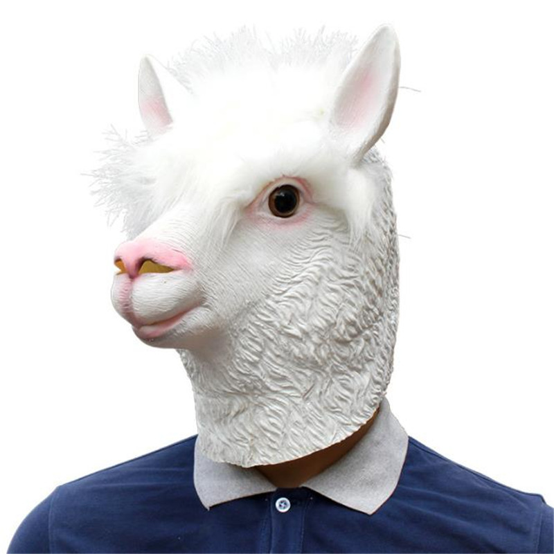 Halloween Christmas Birthday Party Decorate Bar Alpaca cos Cosplay Mask Amazon's hot selling style High Quality Free shipping