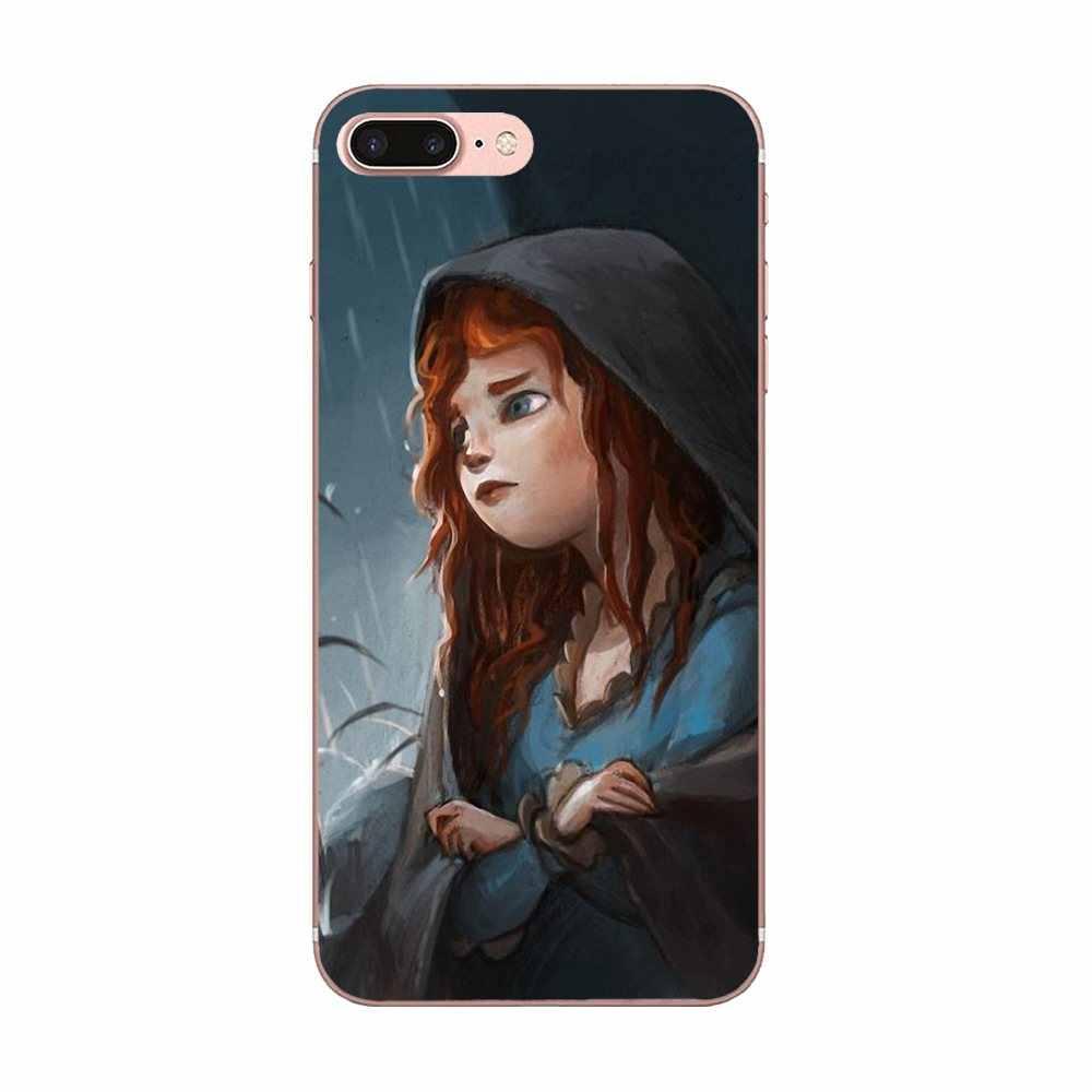 Para A Apple iPhone 4 4S 5 5C 5S SE 6 6 S 7 8 Plus X XS Max XR Pintado admirável Princesa Merida E Soluço