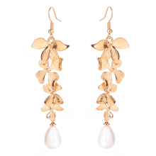 Orchid Floral Wedding Earring