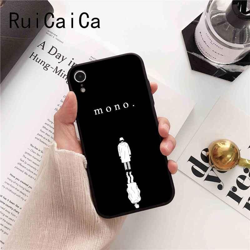 Ruicaica KPOP RM Mono 2018 nowo przybyłych czarny telefon skrzynki pokrywa dla iPhone 8 7 6 6 S 6 Plus X XS MAX 5 5S SE XR Fundas Capa