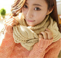 Fashion Lady female  Women neckerchief  winter warm winter wool  twist cotton Sleeve head scarf Korean collar  NH012