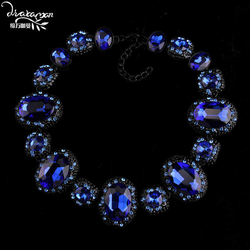 Dvacaman Brand 2017 Luxury Christmas Gift For Women Crystal Choker Necklace Love Friendship Statement Collar Jewelry Bijoux O15