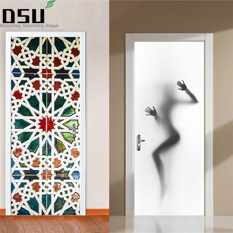 Sexy Frau Silhouette Schönheit Dekor Wandbild Vinyl Kunst Tür Aufkleber Wasserdichte Poster Dekoration für Haus Kühlschrank Aufkleber