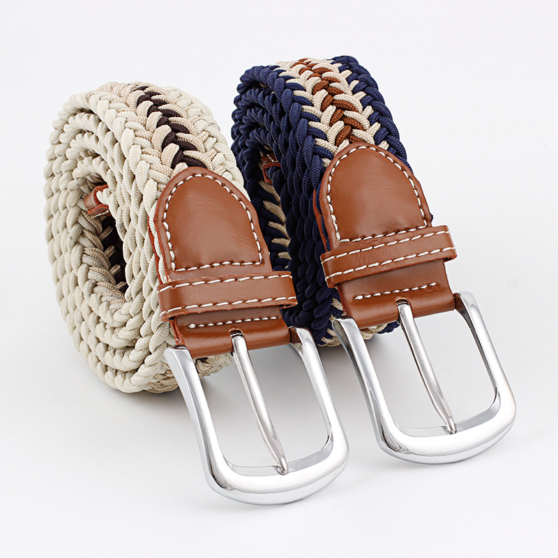 New Fashion Style Leader Belts Knitted Elastic Woven Fabrics For Men Woman Jeans Decor PU Leather Desigen Daily For Unisex Belts