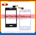"High Quality 3.0"" For LG Optimus L1 II E410 Touch Screen Digitizer Sensor Glass Lens Panel Black White+Tracking Number"