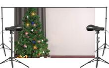 150x220cm Beautiful Christmas Tree Surrounded by a Wide Variety of Gifts Photography Backdrop Background Studio Prop