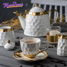 Ceramic Snack Pot Fresh Tea Can Gold Nordic Minimalism Creative Coffee Beans Storage Matte Surface Container Suit
