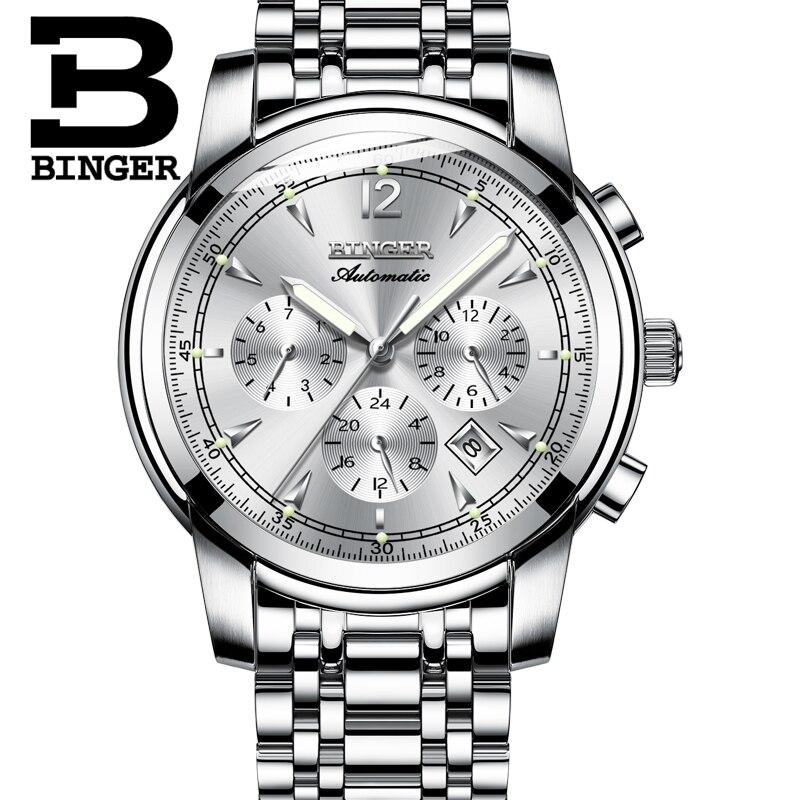 다기능 기계식 시계 남자 스위스 binger 하이 엔드 시계 자동 달력 주 달 사파이어 방수-에서기계식 시계부터 시계 의  그룹 3