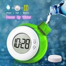 Детские часы с водной энергией, умный цифровой дисплей, часы для дома, украшения для комнаты, настольные часы, бесшумные часы, научная мощность воды, часы