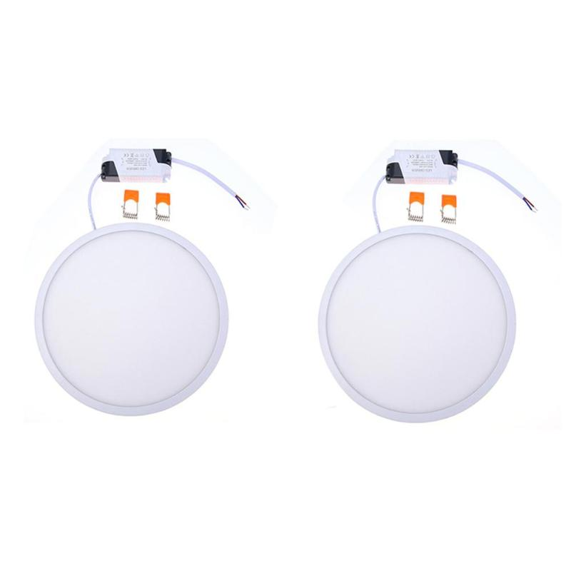 24w Super-thin Round Led Panel Light Suspended Ceiling Recessed Lamp Bedroom Indoor Living Room Energy Saving White/warm Light Downlights