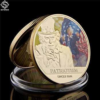 """Moneda conmemorativa del patriotismo americano del Tío Sam Primera Guerra Mundial """"I Want You for US Army"""" Free State Incorporated"""