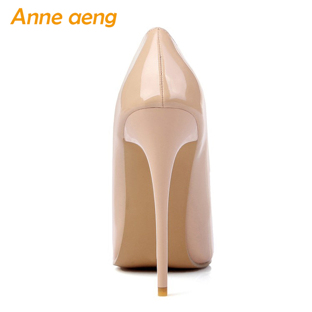 12cm High thin Heels Women Pumps Pointed Toe Shallow Bridal Wedding Shoes Sexy Ladies Women Shoes Nude High Heels Big Size 34-46 2