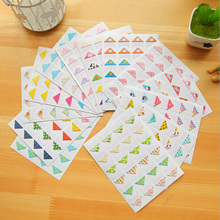 1Sheet(24Pcs) Korean couple baby album dedicated Animal photo corner stickers fixed essential Diy album corner stickers 6Z