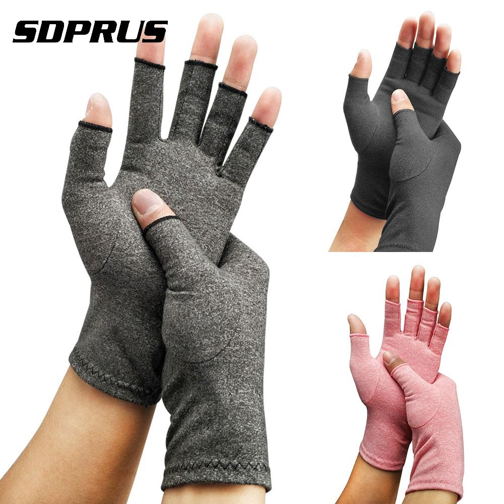 Unisex Men Women Compression Arthritis Gloves Cotton Joint Pain Carpal Relief Care Hand Mittens For Rheumatoid Osteoarthritis