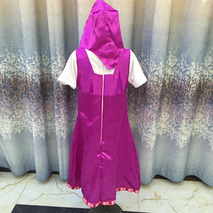 Image 5 - 2019 New Mashae y el oso Cosplay Party Costume Purple Dresses Decoration Childrens Fancy Dress Anime Onesie Clothing
