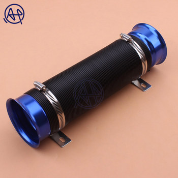 Universa Racingl Car Cold Air Intake Hose 3.5inch Air Inlet Tube Engine Ducting Feed Intake Pipe Induction Kit Flexible Blue image