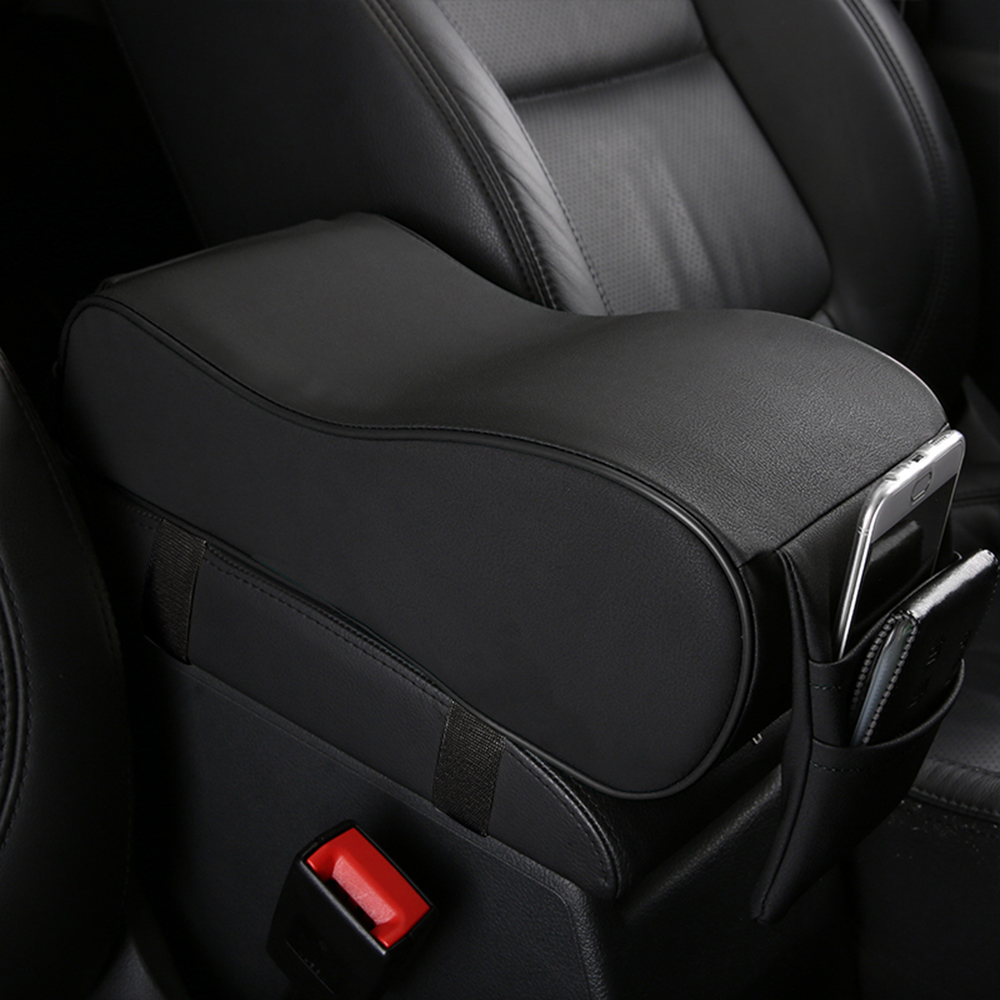Universal Black Memory Foam Car Seat Armrest Cushion Center Console Cover Pretty