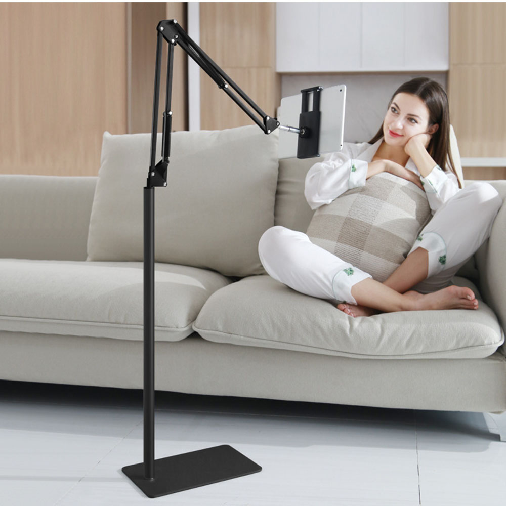 RINKIN ajustable long arm floor stand for mobilephone 360 degree rotatable holder for tablet smartphone hRINKIN ajustable long arm floor stand for mobilephone 360 degree rotatable holder for tablet smartphone h