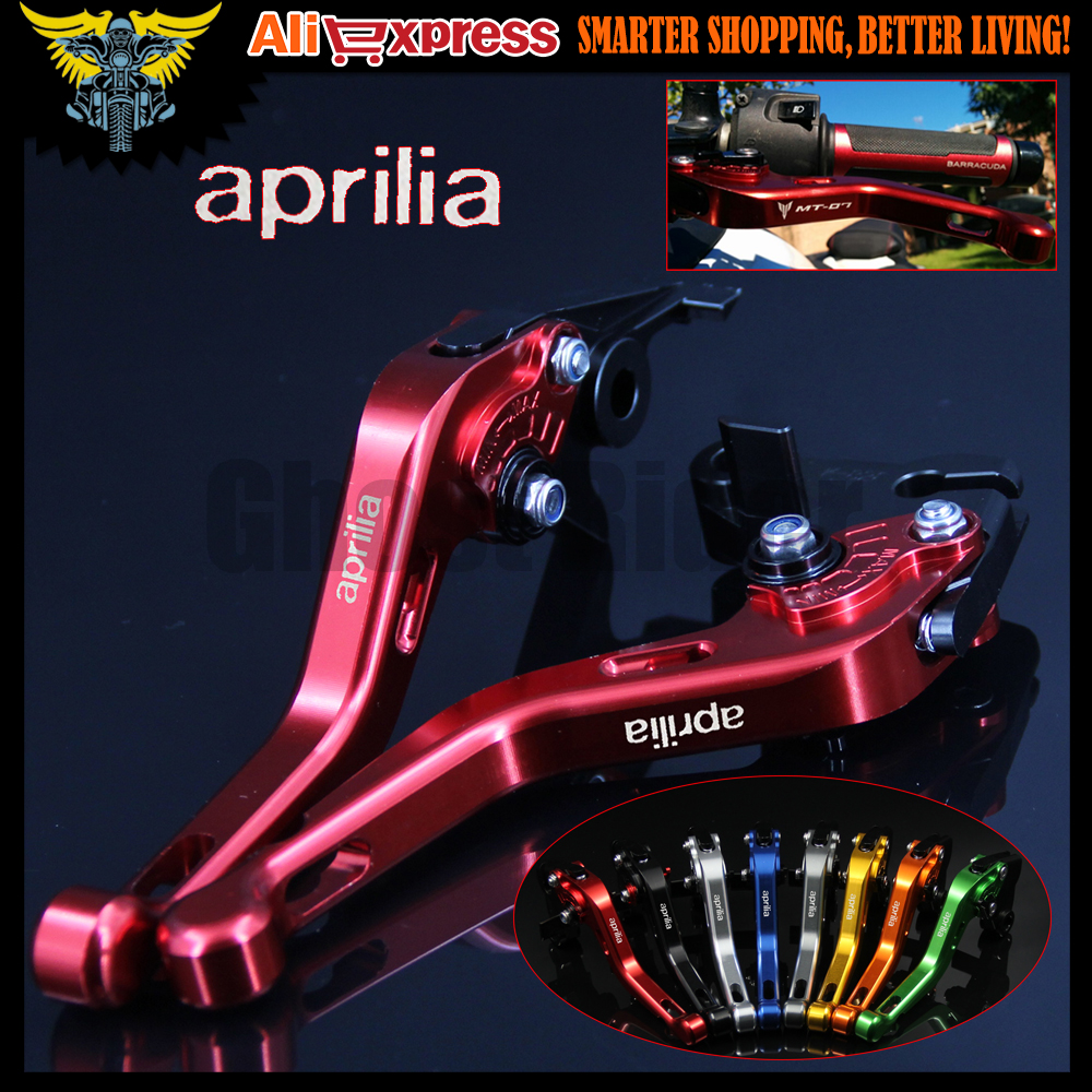 8 Colors Red New CNC 2 finger Short Motorcycle Brake Clutch Levers For Aprilia TUONO / R 2003 2004 2005 2006 2007 2008 2009 cnc motorcycle brakes clutch levers for aprilia tuono rsv mille r falco sl1000 1999 2003 2004 2005 2006 2007 2008 2009 2010